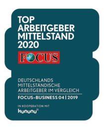FORCAM - TOP Arbeitgeber Mittelstand 2020 - FOCUS Verifizierung